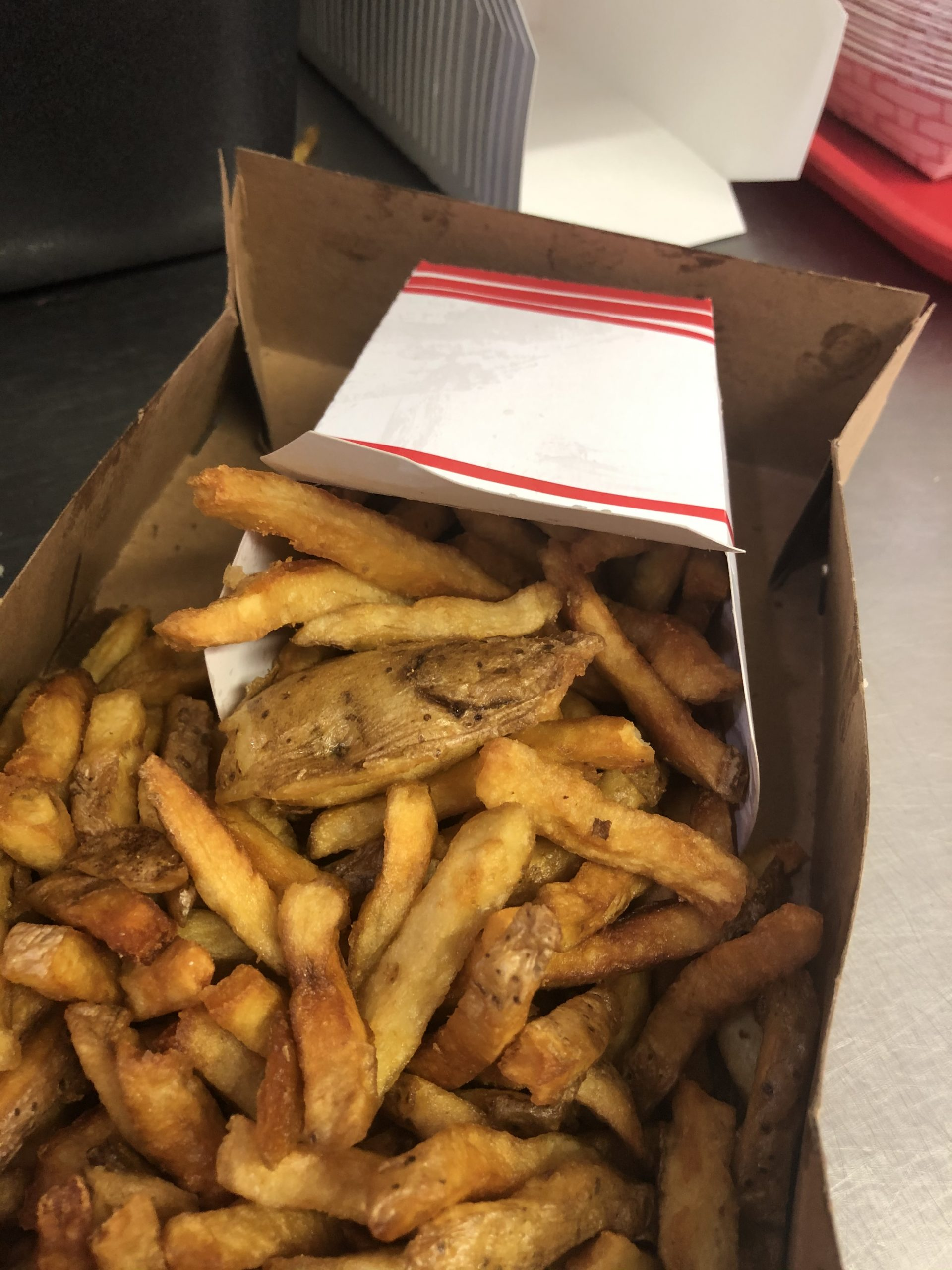 Delicious French Fries from Hoss's Dogg House in St. Albans